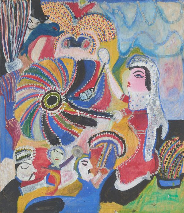 نقاشی مکرمه قنبری